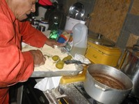 Leah Chase with Pickles
